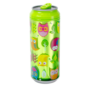 Bright Green / Owls Owls 16 Oz coolgearcan at Cool Gear Coolgearcans