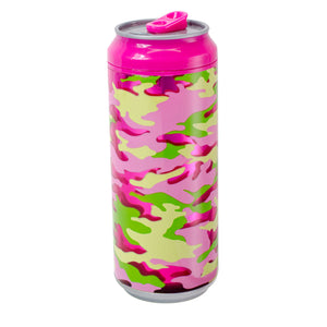 Pink / Summer Camo 16 Oz coolgearcan at Cool Gear Coolgearcans