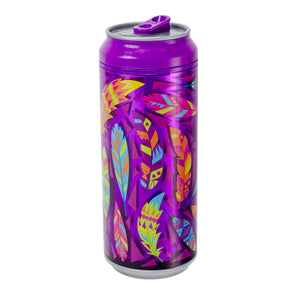 Bright Purple / Tribal Feather 16 Oz coolgearcan at Cool Gear Coolgearcans