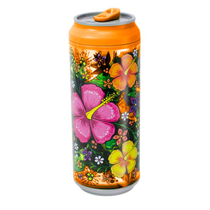 Orange / Tropical Garden 16 Oz coolgearcan at Cool Gear Coolgearcans