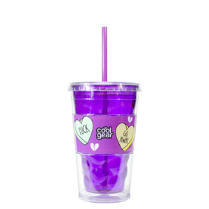 Purple / Candy Hearts 18 Oz Valentines Razor Chiller at Cool Gear Valentines