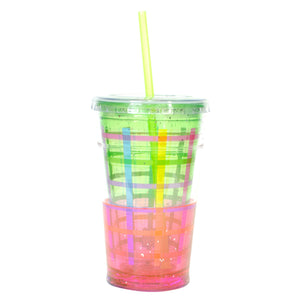 Cool Gear | 20 Oz Easter Sparkle Chiller in Pastel Green / Weave Pattern