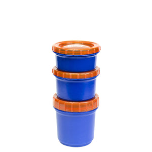 Dark Blue / Orange Snack Stacker at Cool Gear Food Containers
