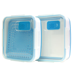 Blue Expandable On The Go Food Container (With Steamer) 2-Pk at Cool Gear Food Containers