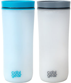 COOL GEAR 16 oz Sumatra Coffee Travel Mug with Spill Proof Slider Lid | Re-Usable Colored Tumbler (2 Pack)