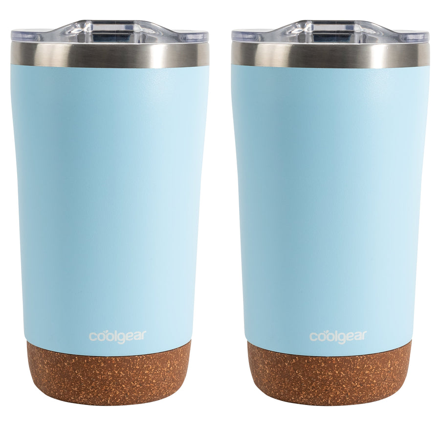 Cool Gear American Designed, Stainless Steel, Dishwasher Safe, Copper Lined BPA Free Lid Tumbler, 2 Pack - 16 oz