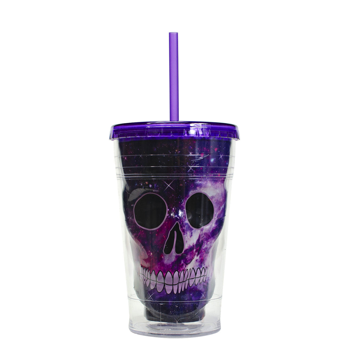 Purple / Galaxy 18 Oz Sugar Skull Halloween Chiller at Cool Gear Halloween