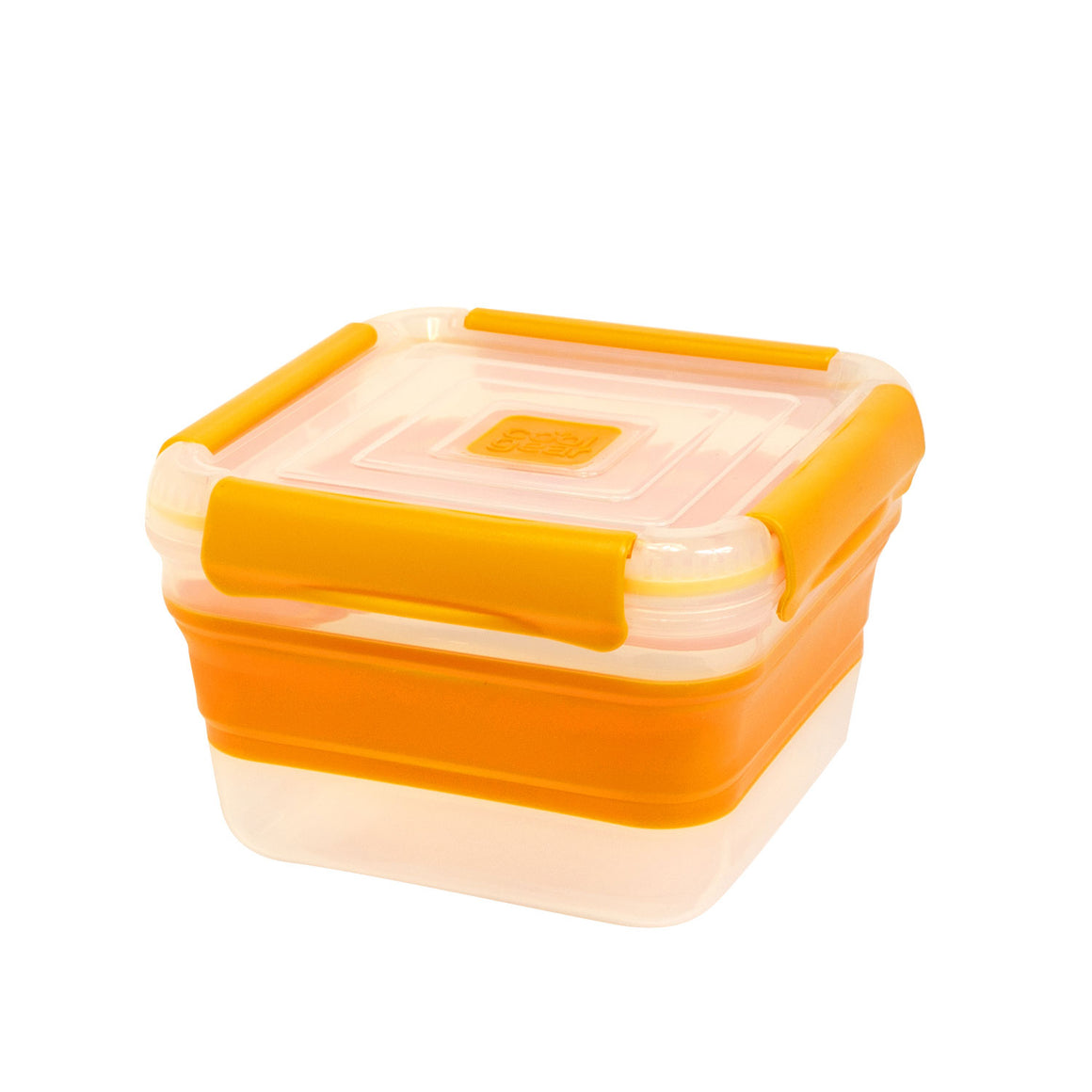 Orange 5.5 Cup Expandable Small Square Food Container at Cool Gear Food Containers