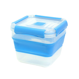 Blue 7.5 Cup Expandable Medium Square Food Container at Cool Gear Food Containers