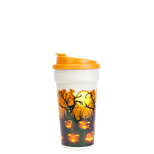 Orange / Haunted Pumpkin Patch 15 Oz Halloween Coffee Mug at Cool Gear Halloween