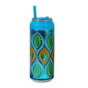 Light Blue / Peacock Rock 16 Oz coolgearcan (With Straw) at Cool Gear Coolgearcans