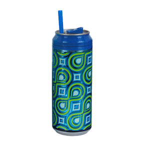 Dark Blue / Mod Drops 16 Oz coolgearcan (With Straw) at Cool Gear Coolgearcans