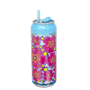 Aqua / Morning Glory 16 Oz coolgearcan (With Straw) at Cool Gear Coolgearcans