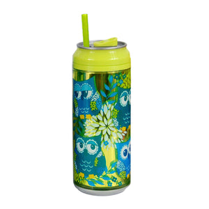 Green / Hooty Tooty 16 Oz coolgearcan (With Straw) at Cool Gear Coolgearcans