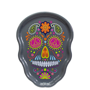Dark Gray Sugar Skull Halloween Serving Tray at Cool Gear Halloween