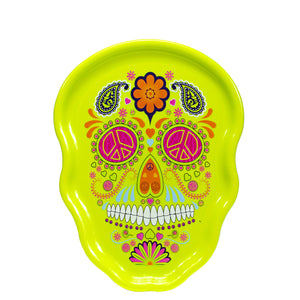 Lime Green Sugar Skull Halloween Serving Tray at Cool Gear Halloween