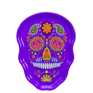 Purple Sugar Skull Halloween Serving Tray at Cool Gear Halloween