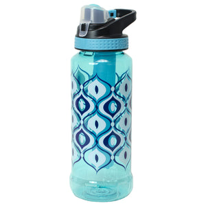 Aquamarine / Droplets Rigid 32 Oz Printed Water Bottle at Cool Gear Water Bottles