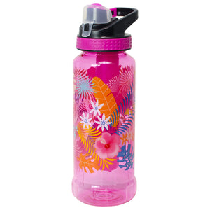 Pink / Tropical Rigid 32 Oz Printed Water Bottle at Cool Gear Water Bottles