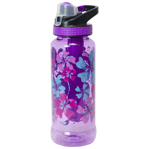 Bright Purple / Funky Flowers Rigid 32 Oz Printed Water Bottle at Cool Gear Water Bottles