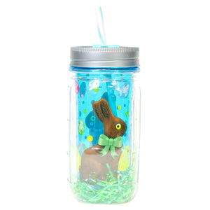 Cool Gear | 16 Oz Easter Double Wall Mason Jar in Pastel Blue / Chicks