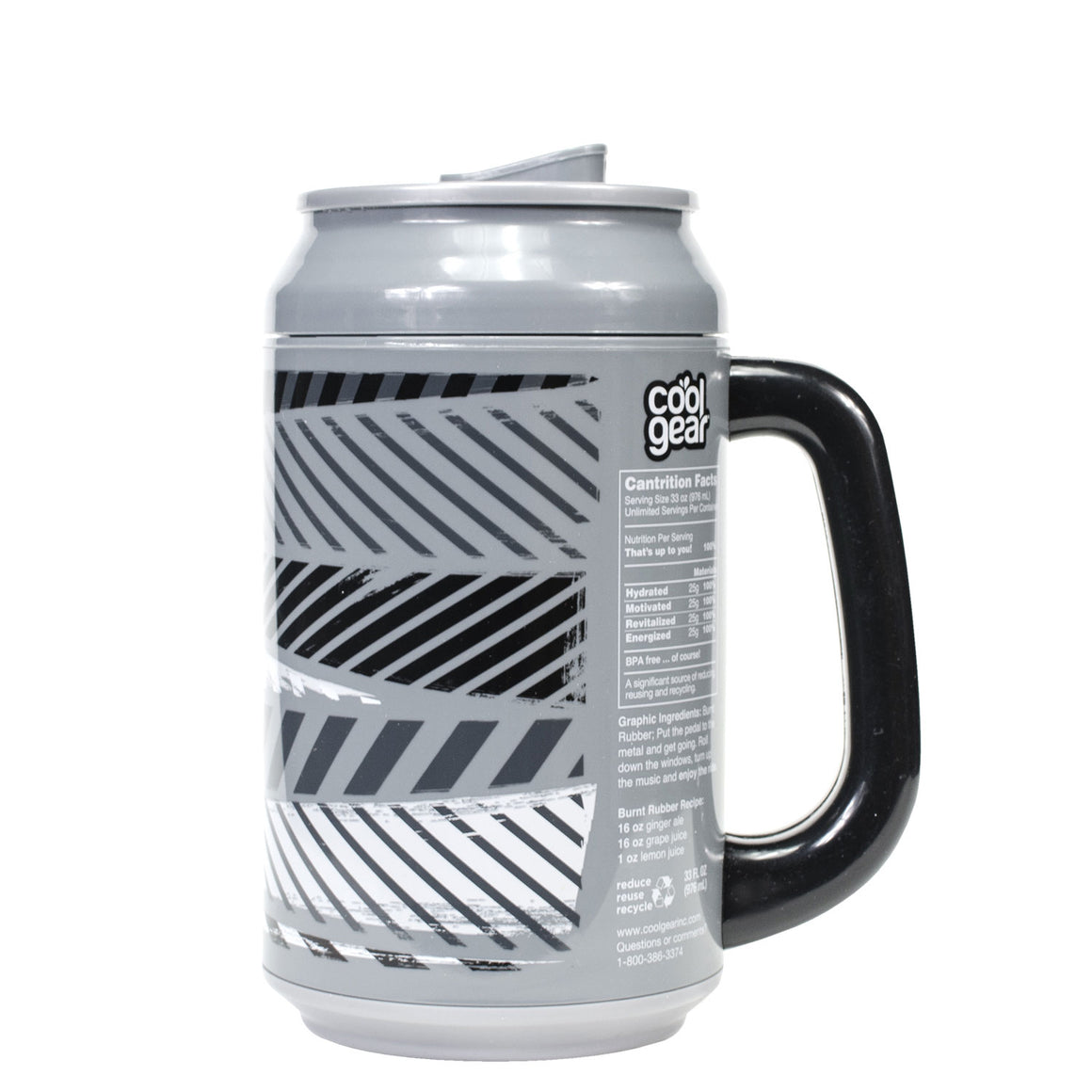 Gray / Burnt Rubber 33 Oz coolgearcan with Handle at Cool Gear Coolgearcans
