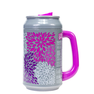 Pink / Pretty Pink Petals 33 Oz coolgearcan with Handle at Cool Gear Coolgearcans