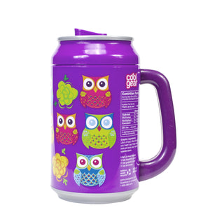 Bright Purple / Life'S A Hoot 33 Oz coolgearcan with Handle at Cool Gear Coolgearcans