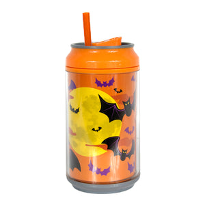 Orange / Scaredy-Bat 12 Oz Halloween Coolgearcan (With Straw) at Cool Gear Halloween