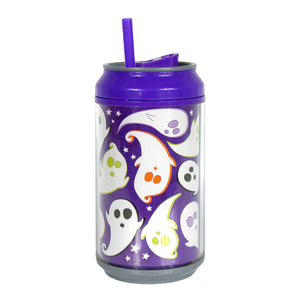 Purple / Spooky Spirits 12 Oz Halloween Coolgearcan (With Straw) at Cool Gear Halloween