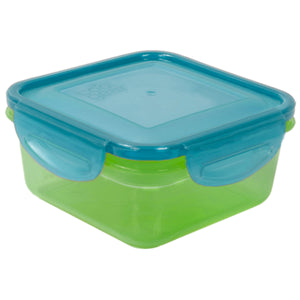 Green / Blue 14.8 Oz Snap N Seal Small Square Food Container at Cool Gear Food Containers