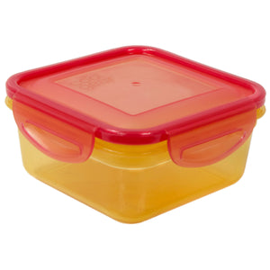Orange / Pink 14.8 Oz Snap N Seal Small Square Food Container at Cool Gear Food Containers