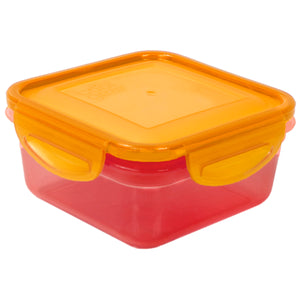 Pink / Orange 14.8 Oz Snap N Seal Small Square Food Container at Cool Gear Food Containers
