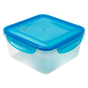 Blue 35.8 Oz Snap N Seal Medium Square Food Container at Cool Gear Food Containers