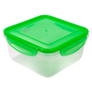 Green 35.8 Oz Snap N Seal Medium Square Food Container at Cool Gear Food Containers