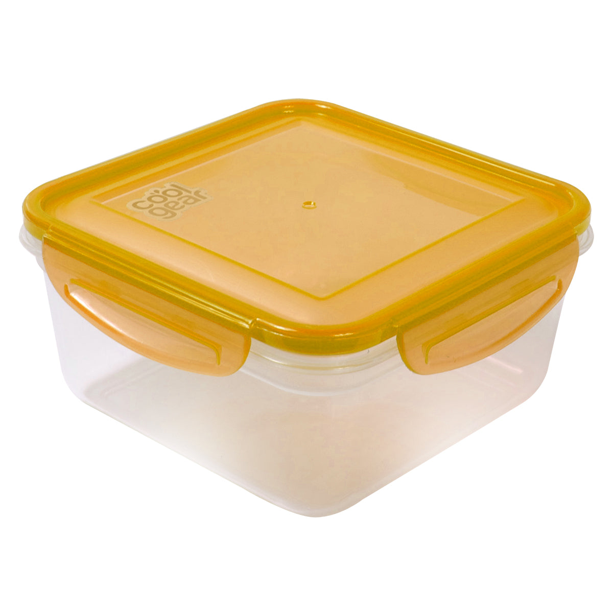 Orange 35.8 Oz Snap N Seal Medium Square Food Container At Cool Gear Food  Containers ...