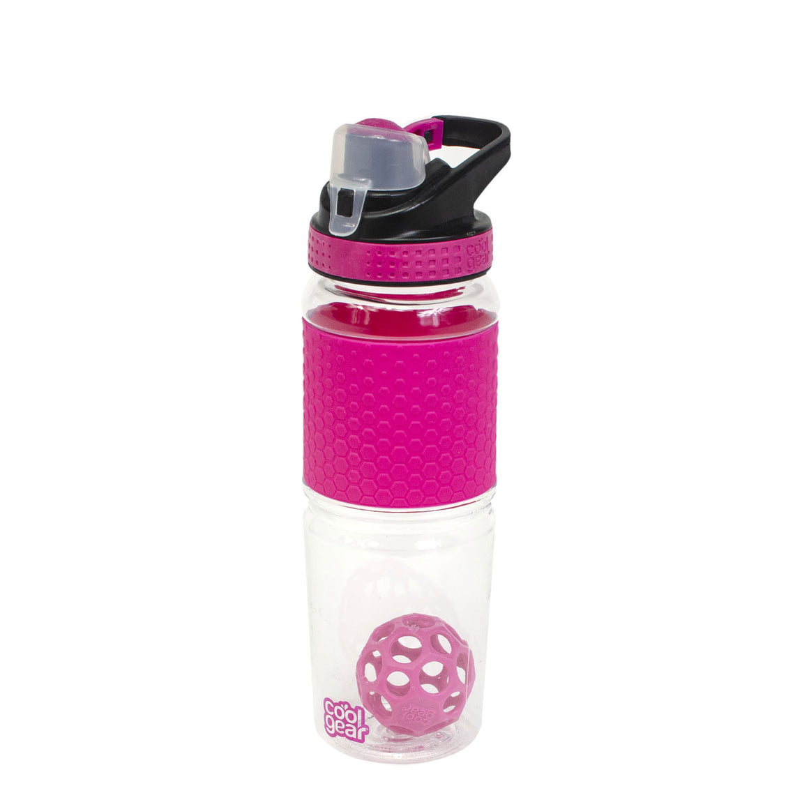 Pink Hexashake 24 Oz Protein Shaker at Cool Gear Water Bottles