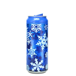 Dark Blue / Snow Sparkle 16 Oz Holiday Glitter coolgearcan at Cool Gear Winter Holiday