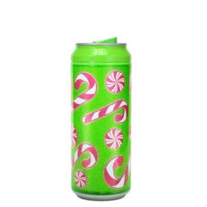 Forest Green / Candy Cane 16 Oz Holiday Glitter coolgearcan at Cool Gear Winter Holiday