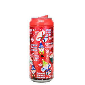 Red / Gnome For The Holidays 16 Oz Holiday Glitter coolgearcan at Cool Gear Winter Holiday