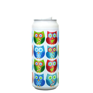White / Whooolidays 16 Oz Holiday Glitter coolgearcan at Cool Gear Winter Holiday