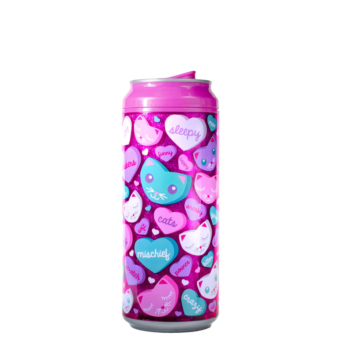 Purple / Moon And Back 16 Oz Valentines Glitter coolgearcan at Cool Gear Valentines
