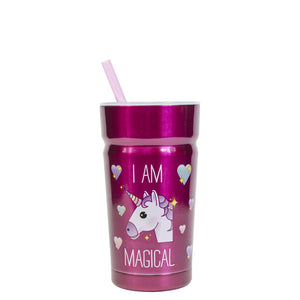 12oz Cayambe Tumbler bottle in blue and pink at Cool Gear Kids Drink
