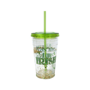 Kiss Me I'M Irish 20 Oz St. Patrick's Day Sparkle Chiller at Cool Gear St. Patrick's