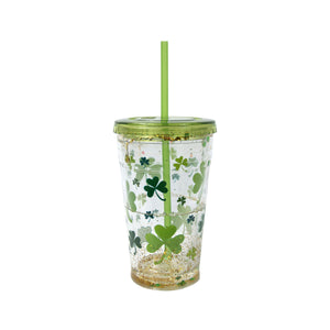 Shamrocks 20 Oz St. Patrick's Day Sparkle Chiller at Cool Gear St. Patrick's