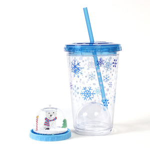 21 Oz Light Up Holiday Snowglobe Chiller at Cool Gear Winter Holiday