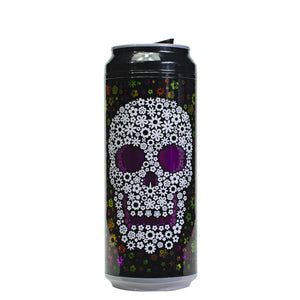 Black / Flower Skull 16 Oz Halloween Coolgearcan at Cool Gear Halloween