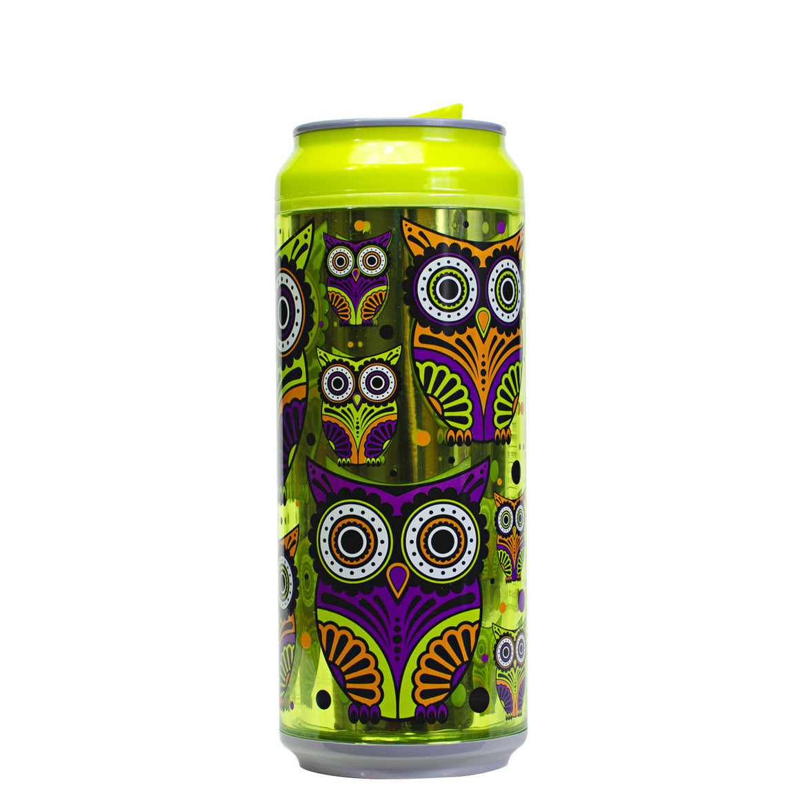 Green / Owls At Night 16 Oz Halloween Coolgearcan at Cool Gear Halloween