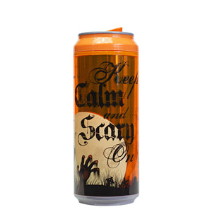 Orange / Keep Calm And Scary On 16 Oz Halloween Coolgearcan at Cool Gear Halloween