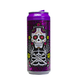 Purple / Sugar Skull 16 Oz Halloween Coolgearcan at Cool Gear Halloween